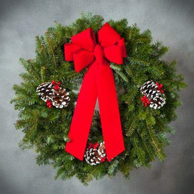 Decorated Fraser Wreath